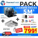 Pack chambre froide positive 5M3 0/+5°C