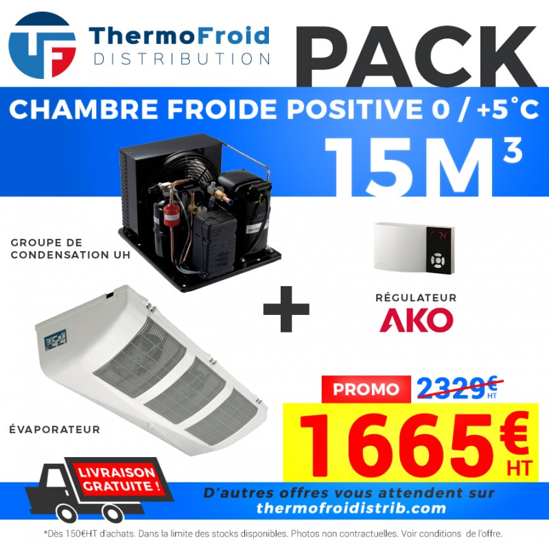 Pack Chambre Froide positive 15M3 - Thermofroid Distribution