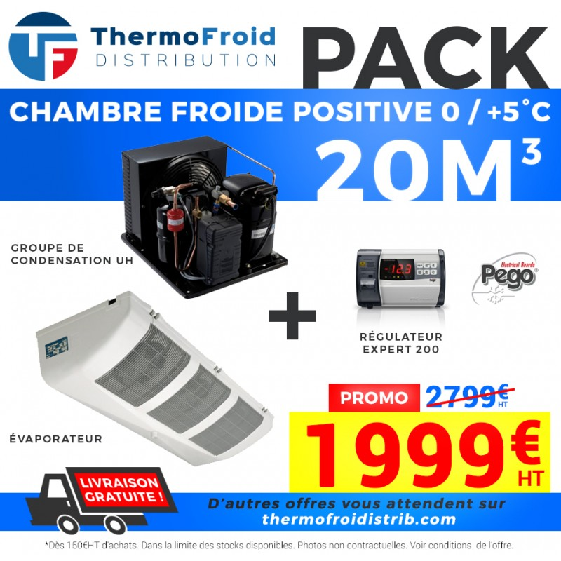 Pack Chambre Froide positive 20M3 - Thermofroid Distribution