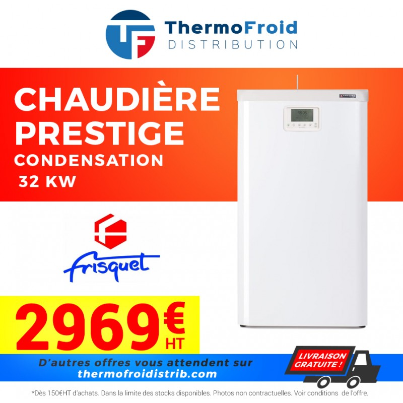 Chaudière Prestige condensation visio mixte Frisquet 32 kw Thermofroid Distribution