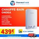 Chauffe-bains ONDEA Hydropower sans veilleuse - LC 11 PVHY - 7 à 19,2 kW - débit 11 l/min - Gaz naturel