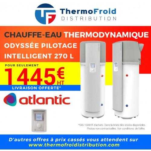 Chauffe-eau thermodynamique Atlantic ODYSSÉE PILOTAGE INTELLIGENT 270 L