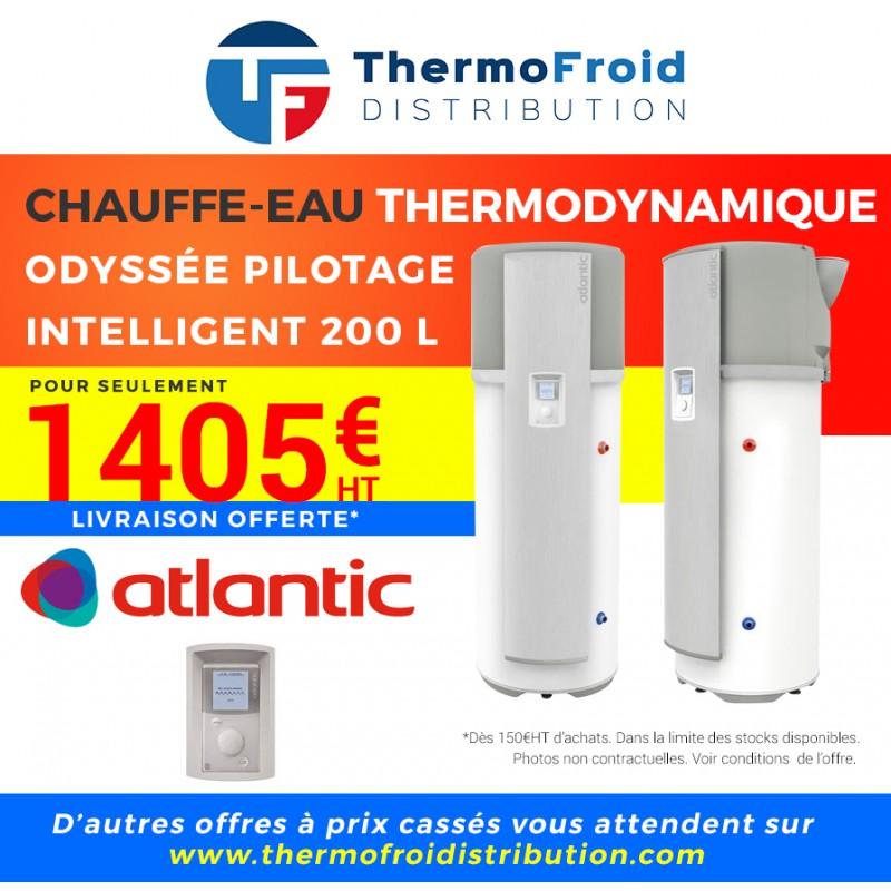 Chauffe-eau thermodynamique ODYSSÉE PILOTAGE INTELLIGENT 200 L Thermofroid Distribution