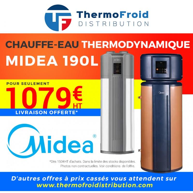 Chauffe-eau thermodynamique Midea 190 L