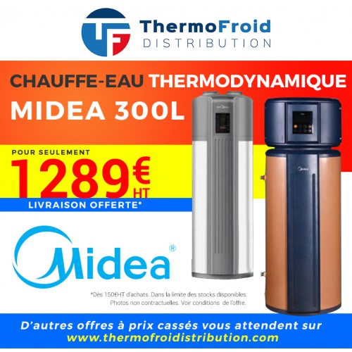 Chauffe-eau thermodynamique Midea 300 L