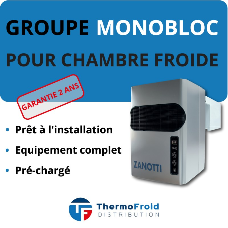 Monobloc Zanotti Négatif 10m3 Thermofroid Distribution