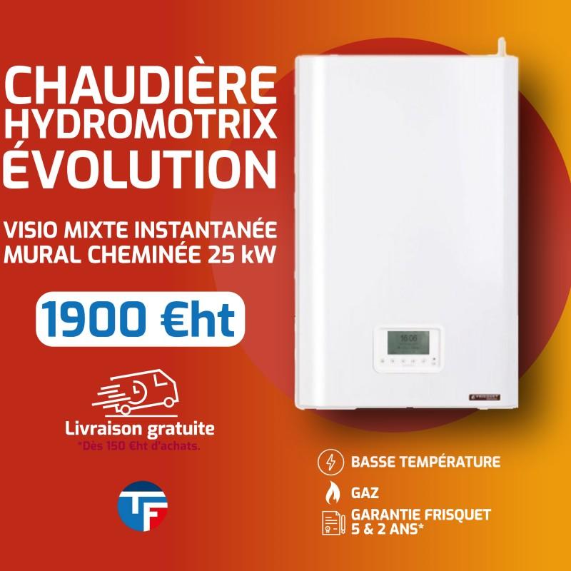 Frisquet chaudière murale gaz basse température mixte instantanée HYDROMOTRIX Evolution Visio 25kW