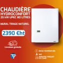 Frisquet chaudière murale basse température mixte accumulée HYDROCONFORT Evolution Visio 25kW 80 litres