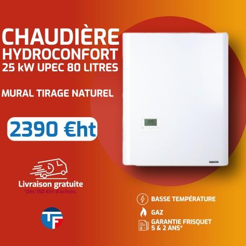 Frisquet hydromoconfort évolution visio mixte sortie cheminée 25Kw Thermofroid Distribution