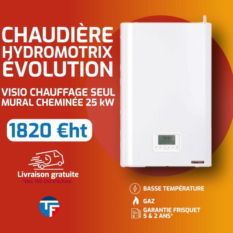 Frisquet hydromotrix évolution visio chauffage seul sortie cheminée 25Kw Thermofroid Distribution