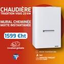 Frisquet chaudière murale cheminée mixte instantanée HYDROMOTRIX Tradition Visio 23kW