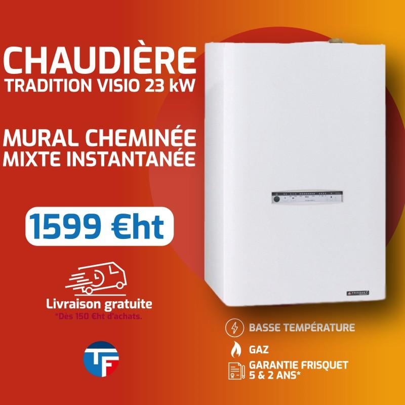 Frisquet hydromotrix tradition mixte sortie cheminée 25Kw Thermofroid Distribution