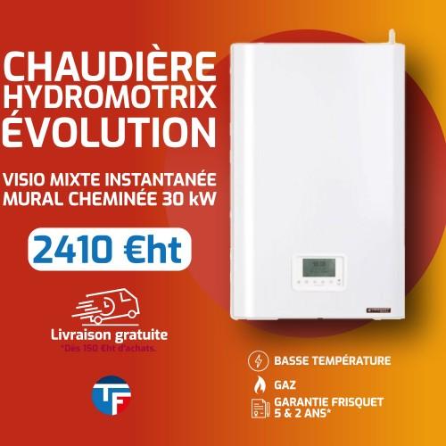 Frisquet chaudière murale gaz basse température mixte instantanée HYDROMOTRIX Evolution Visio 30kW