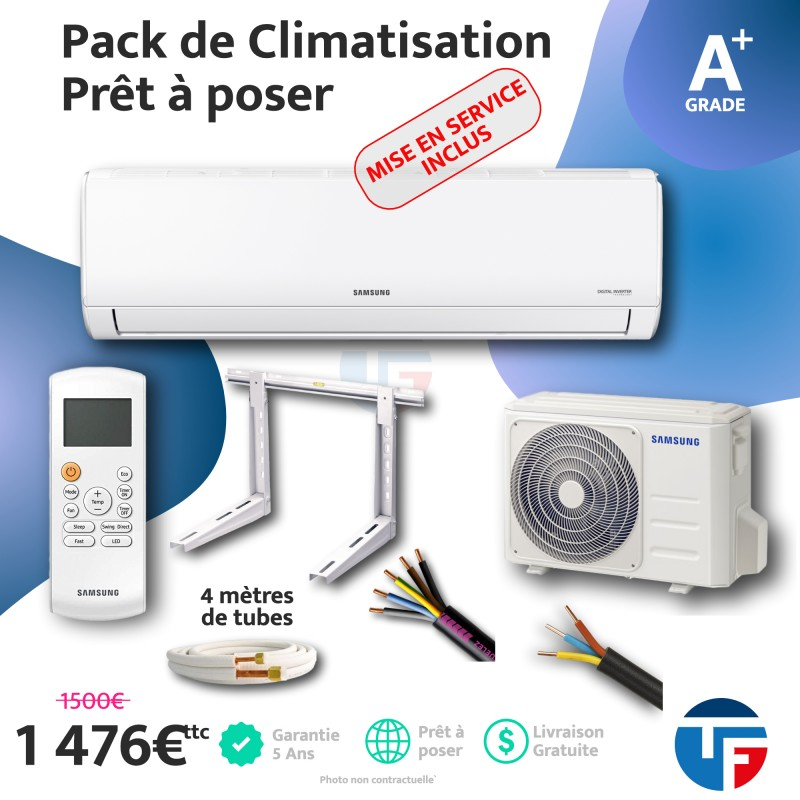 Climatisation 5kw Samsung prêt à poser