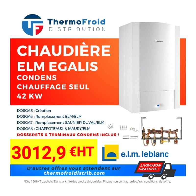 Chaudières ELM Egalis CONDENS chauffage seul 42 kW Thermofroid Distribution