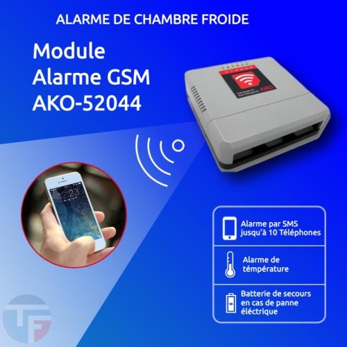 Alarme de température GSM AKO-52044 de ThermoFroid Distribution pour Chambre froide positive négative par SMS